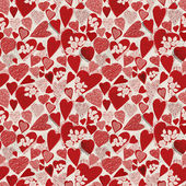 Grunge heart seamless pattern — Stock Vector