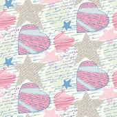 Lettres d'amour sans soudure — Vecteur