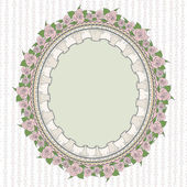 Oval frame in the Provence style — Stock Vector
