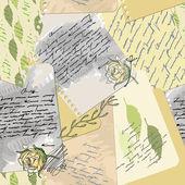 Seamless old love letter — Stock Vector