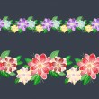 Royalty-Free Stock Vector Image: Seamless floral border
