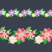 Dikişsiz çiçek sınır — Stok Vektör
