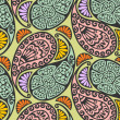 Royalty-Free Stock Imagen vectorial: Seamless paisley and floral pattern