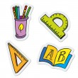 School and education objects - Stock Vector