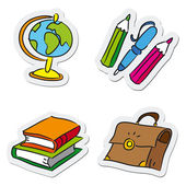 School and education objects — Stock Vector