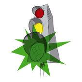 Green traffic lights — Stock Vector