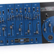 Stock Photo: Audio mixing control panel