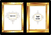 Golden Photo frames — Stock Vector