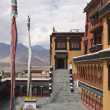 Inside Thikse Monastery - Stock Photo