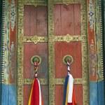 Tibet Style Monastery Door — Stock Photo