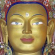 Face of a Golden Buddha — Stockfoto