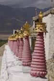 Row of Buddhist Stupas — Stock Photo