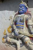 Bleu face guerrier bouddhiste — Photo