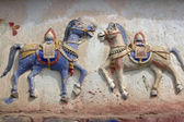 Buddhist War Horses — Stock Photo