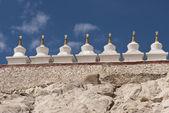 Stupas at a Buddhist Monastery — Stock Photo