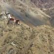 Buddhist Fort in the Mountains of Ladakh — Stock Photo