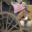 Rickshaw Wallah having a rest — Stock Photo