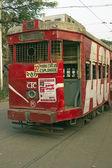 Red Tram — Stock Photo