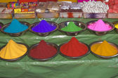 Coloured Powder For Sale — Stock Photo