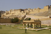 Formal Garden at Amber Fort — Stockfoto