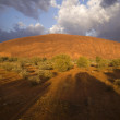 Stock Photo: Storm Over Ayers Rock
