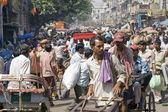 Crowded Indian Street Scene — Stock Photo