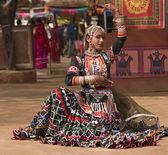 Indian Kalbelia Dancer — Stock Photo