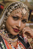Portrait of a Rajasthani Tribal Dancer — Stock fotografie