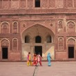 Visitors at the Red Fort — Stock Photo