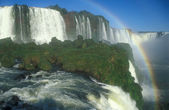 Rainbow Over Iguacu Falls — Stock Photo