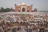 Religious Festival at the Taj Mahal — Stock Photo