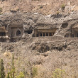 Ancient Buddhist Rock temples at Ajanta — Foto de stock #8072670