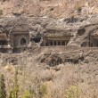 Ancient Buddhist Rock temples at Ajanta — Stockfoto #8072670