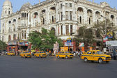 Busy Road Junction In Calcutta — Stock Photo