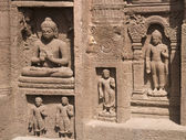 Religious Carvings at Ajanta Caves — Stock Photo