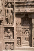 Rock Carvings at Ajanta Caves — Stock Photo