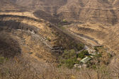 Valley of Ajanta Caves — Stock Photo