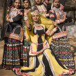 Rajasthani Dancing Girls — Stock Photo