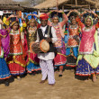 Rajasthani Dance Troupe — Stock Photo