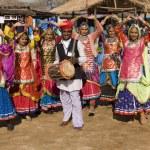 Rajasthani Dance Troupe — Stock Photo