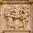 Erotic Hindu Carvings - Stock Photo