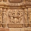 Erotic Hindu Temple Carvings - Stock Photo