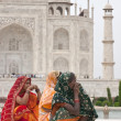 Color at the Taj Mahal — Stock Photo