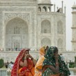 Colorful Indian Tourists — Stock Photo