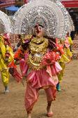 Masked Dancers — Stock Photo