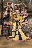 Rajasthani Dancing Girls — Stock Photo