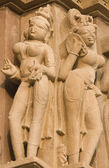 Sensual Hindu Carvings — Stock Photo