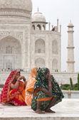 Color en el taj mahal — Foto de Stock