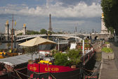Houseboats in Paris — Stock Photo