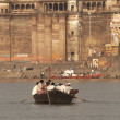 图库照片: Boating on River Ganges